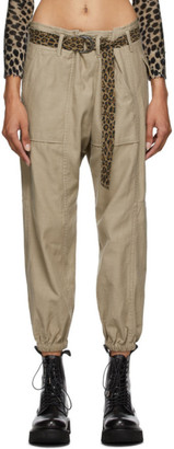 R 13 Khaki Crossover Utility Drop Trousers