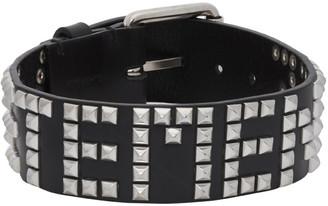 Vetements Black Leather Stud Choker