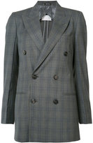 Maison Margiela checked double breasted blazer - women - Cotton/Viscose/Wool - 44