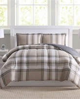 Pem America Basic Plaid 3-Pc. Full/Queen Comforter Set, Created for Macy's