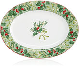 222 Fifth Christmas Foliage Platter