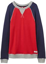 Joules Little Joule Boys' Leon Raglan Sweatshirt, Red
