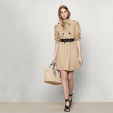 Maje Trench coat with drawstring at the waist