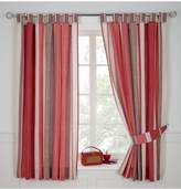Very Century Spot and Stripe Tab Top Curtains - Red