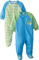 Gerber Baby Boys' 2 Pack Zip Front Sleep 'N Play, Cars, New Born