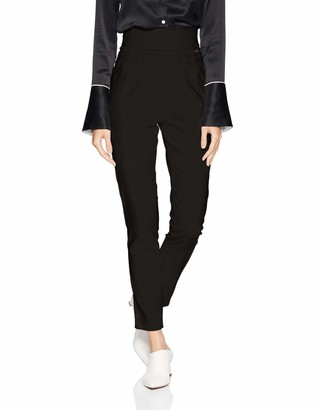 A|X Armani Exchange Women's High Rise Pleated Trouser