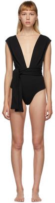 Haight Black Crepe V One-Piece Swimsuit