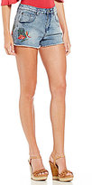 Gianni Bini Breanna Floral Embroidered Jean Short