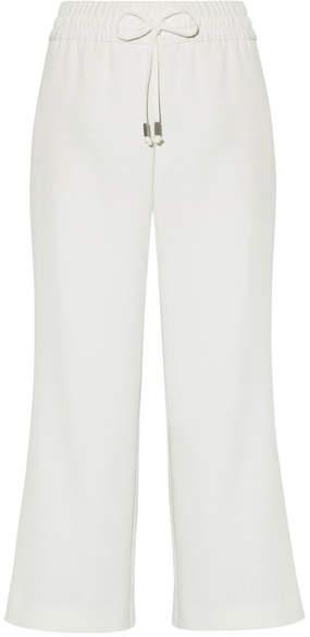 Alice + Olivia Benny Cropped Crepe Wide-leg Pants - White