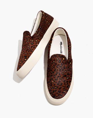 Madewell Sidewalk Slip-On Sneakers in Painted Leopard Calf Hair
