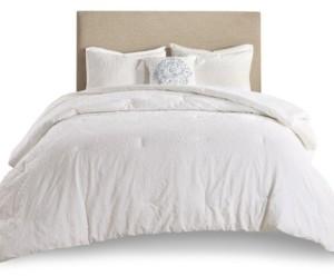 Madison Home USA Prelude 4 Piece Microsculpt King/California King Comforter Set Bedding