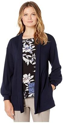 Karen Kane Pocket Cardigan (Navy) Women's Sweater