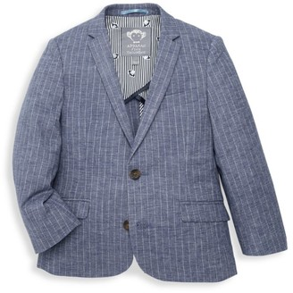 Appaman Little Boy's Pinstripe Chambray Jacket