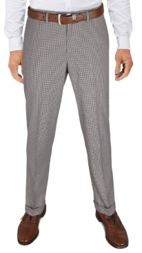 Bar III Men's Slim-Fit Cropped Stretch Plaid Dress Pants, Created for Macy's