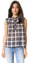 Rebecca Taylor Sleeveless Cotton Top