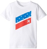 Hurley Icon Slash Flag Fill Short Sleeve Tee Boy's T Shirt