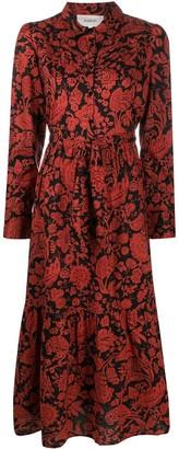 BA&SH Cerise floral-print cotton dress