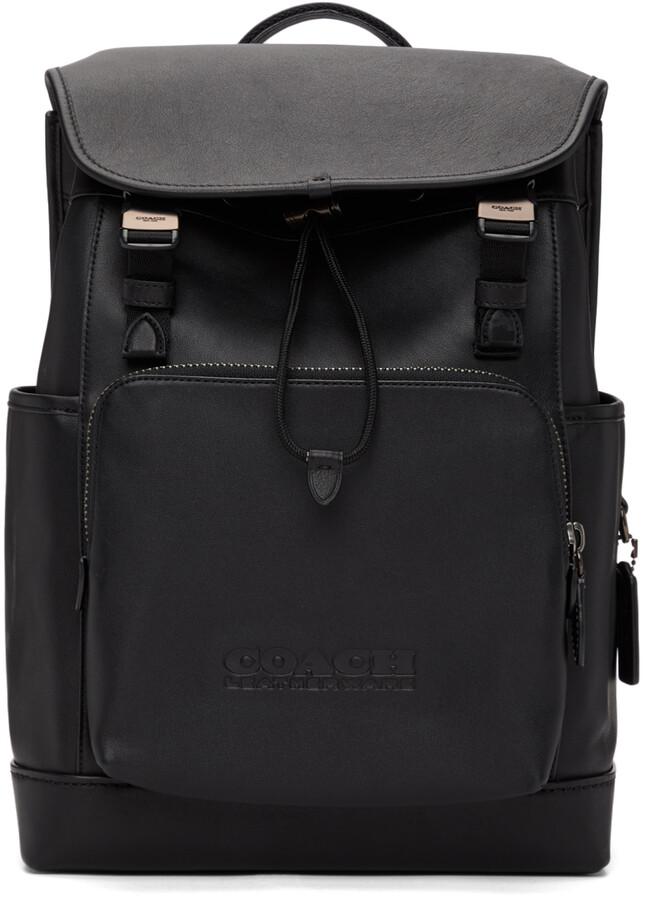 Coach 1941 Black League Flap Backpack