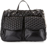 Cynthia Vincent Ila Quilted Satchel Bag, Black Matte