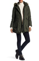 Kimi + Kai Dixie Down Faux Fur Trim Parka Coat (Maternity)