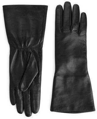 Arket Wide Cuff Leather Gloves