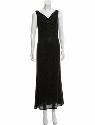 Naeem Khan Silk Embellished Evening Dress Black