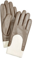 Charter Club Leather and Knit Touchscreen Gloves, Created for Macy's