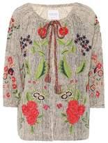 Velvet Delfina embroidered cardigan