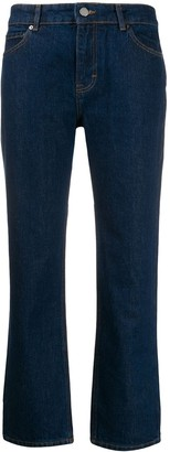 Victoria Victoria Beckham high-rise cropped kick-flare jeans