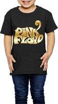MAUCRCT Little Girls' Pink Floyd Gold Logo 2-6 Toddler T-Shirt