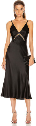 Alberta Ferretti Slip Midi Dress in Black | FWRD