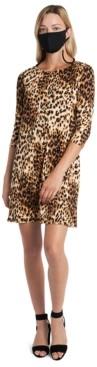 MSK Leopard-Print Dress & Face Mask Necklace
