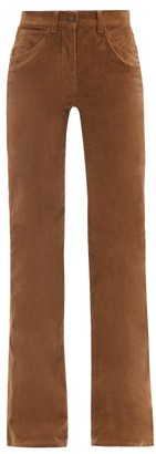 Nili Lotan Celia High-rise Flared-leg Corduroy Jeans - Brown