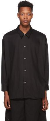 N.Hoolywood Black Rayon Classic Shirt