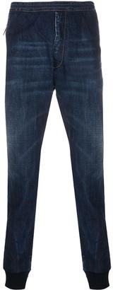DSQUARED2 Ribbed-Cuff Denim Track Pants