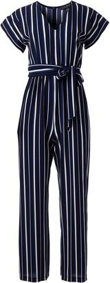 Jessica Howard JessicaHoward Women's Dolman Sleeve V Neck Inset Waist Blouson Jumpsuit