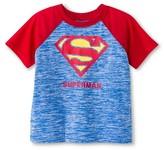 Superman Toddler Boys' Active Raglan Tee - Navy