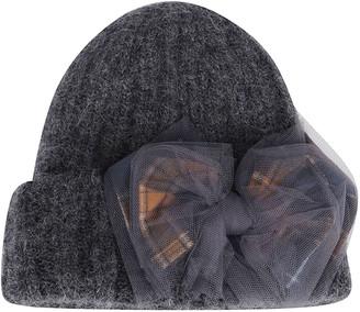 CA4LA Grey Mohair-wool Blend Hat