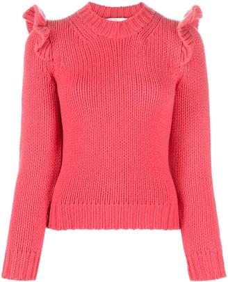 Zimmermann Lady Beetle ruffle-shoulder sweater
