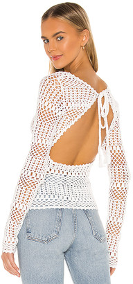 Majorelle Ravenna Crochet Sweater