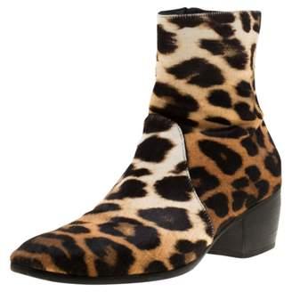 Giuseppe Zanotti Beige Pony-style calfskin Boots