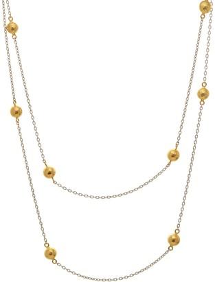 Gurhan Hammered Balls Station Necklace
