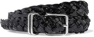 IRO Besano Braided Patent-leather Belt