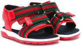 Gucci Kids - strapped sandals - kids - Cotton/Leather/rubber - 20