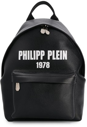 Philipp Plein logo print backpack