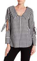 Laundry by Shelli Segal Gingham Elbow Show Top