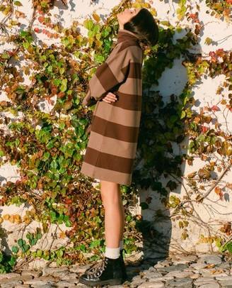 Beaumont Organic AW20 - Xena Sue Organic Cotton Dress In Chocolate Mocha - Chocolate & Mocha / Small