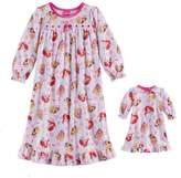 Disney Princess Toddler Girl Ariel, Belle & Aurora Nightgown & Doll Gown Set