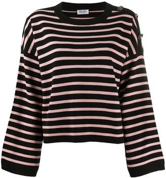 Liu Jo Striped-Print Buttoned Top