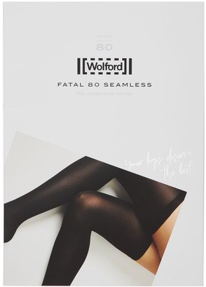 Wolford Fatal 80 Denier Stay-Up Thigh Highs